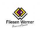 Logo Fliesen, Fliesenleger, Baumarkt