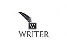 Stift Logo, Schriftsteller Logo