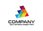 Medien, Produktion, Dreieck Logo