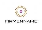 Logo, Ellipsen, Kugel, Zelle, Zentrum, Arztlogo, Praxislogo