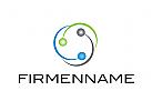 Logo, Kreis, Rund, Elemente, Kugeln, Abstrakt
