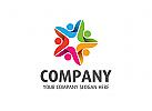 Gruppe Logo, Menschen Logo, Kinder Logo