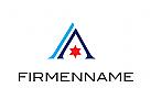 Logo, Abstrakt, Buchstabe, A, Stern