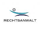 Logo, Waage, Abstrakt, Rechtsanwalt