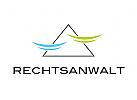 Logo, Dreieck, Waagschalen, Abstrakt, Rechtsanwalt, Steuerberater