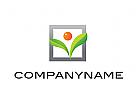 Logo, Rahmen, Fenster, Pflanze, Sonne, Kugel, Abstrakt