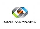 Logo, Community, Gemeinschaft, Verbindung, Segmente, Transparenz