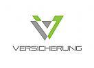 Buchstaben V, Versicherung Logo