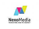 Buchstaben N Logo, Medien Logo, Produktion Logo