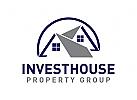 Zwei, Immobilien Logo, Architektur Logo, Bau Logo