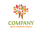 Baum Logo, Gruppe Logo, Menschen Logo