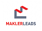 Buchstaben M Logo, Makler Logo, Immobilien Logo, Haus Logo