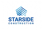 Abstract Construction Logo with Star