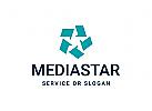 Speech Bubbles to Star Logo