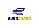 Buchstaben E Logo, Transport Logo, Logistik, Lkw