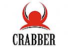 Roter Krebs Teufel Logo