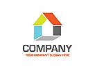Immobilien Logo, Bauwerk Logo, Haus Logo
