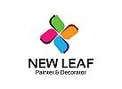 Blatt Logo, Gruppe Logo, Dekoration Logo