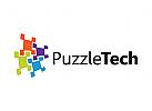 Puzzle Logo, Technologie Logo, Daten Logo