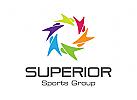 Gruppe Logo, Menschen Logo, Sport Logo