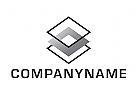 Logo, Abstrakt, Ebenen, Layer, Handwerk, Bau, Immobilien, Architektur
