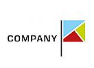 Logo, Flagge, Buchstabe, K, Abstrakt