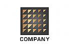 Logo, Quadrat, Raster, Dreiecke