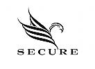 Logo, Adler, Falke, Security, Sicherheitsdienst