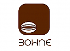 Abstraktes Bohnen Logo