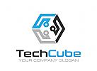 Technologie Logo, Würfel Logo