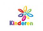 Blume Logo, Freude Logo, Lernen Logo