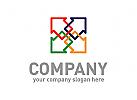 Haus Logo, Farbe Logo, Malerei Logo