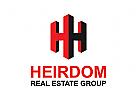 Buchstaben H Logo, Makler Logo, Immobilien Logo, Haus Logo