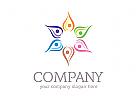 Gruppe Logo, Menschen Logo, Blumen Logo