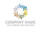 Gruppe Logo, Menschen Logo, Sozial Logo