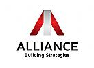 Buchstaben A Logo, Immobilien Logo
