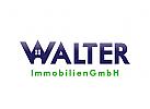 Buchstaben W Logo, Walter Logo, Immobilien Logo, Bau Logo