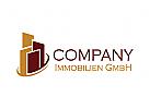 Immobilien Logo, Gebäude Logo, Bau Logo