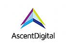 Buchstaben A Logo, Immobilien Logo, Technologie Logo, Medien Logo