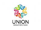 Gruppen Logo, Menschen Logo, Kinder Logo, Soziale Logo