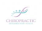 Chiropraktiker Logo, Pflege Logo