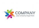 Gruppe Logo, Menschen Logo, Hände Logo