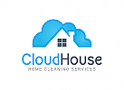 Haus Logo, Wolke Logo, Reinigung Logo