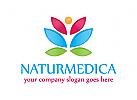 Natur Logo, Medizin Logo, Massage Logo
