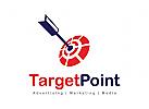 Ziel Logo, Werbung Logo, Medien Logo