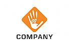 Logo, Hände, Netzwerk, Community
