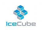 Würfel Logo, Technologie Logo