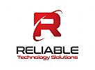 Buchstaben R Logo, Technologie Logo, Medien Logo