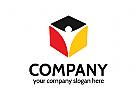 Würfel Logo, Versicherung Logo, Deutsch Logo