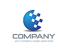 Technologie Logo, Daten Logo, Netz Logo